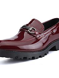 Masculino sapatos Couro Ecológico Primavera Outono Mocassins e Slip-Ons Caminhada Combinação Para Preto Vinho