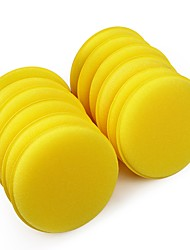 cheap -ZIQIAO 12 pcs/set Car Wax Sponge Automobile Cleaning Tool Car Care Yellow Anti-Scratch Applicator Pads Tyre Dressing Foam