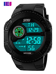 cheap -Men's Digital Wrist Watch Smartwatch Sport Watch Chinese Calendar / date / day Water Resistant / Water Proof Large Dial Silicone Band