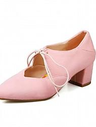 Feminino Sapatos Sintético Primavera Outono Conforto Inovador Saltos Caminhada Salto Grosso Dedo Apontado Cadarço Poa Para Casual Social