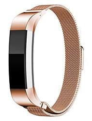 abordables -correa milanese para reloj inteligente fitbit alta - bandas de reloj de oro rosa para fitbit
