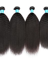 Vinsteen Indian Human Hair Extensions Kinky Straight Virgin Hair Weft 4Pcs Lot Natural Black Hair Bundles Curly Human Hair Weaves