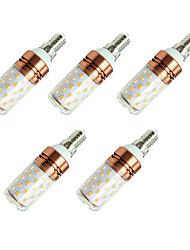 baratos -5pçs 8W 800lm E14 Lâmpadas Espiga T 60 Contas LED SMD 2835 Branco Quente Branco