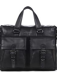 Men Bags All Seasons Cowhide Tote Smooth for Business Casual Formal Work Office & Career School Date Black Dark Brown