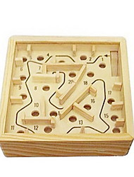cheap -Wooden Labyrinth Board Game Balls Maze Wood Pieces Unisex Adults' Gift