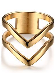 Per donna Anello Vintage Stile punk Elegant Acciaio al titanio 18K oro Rotondo Gioielli Per Matrimonio Party/serata Quotidiano