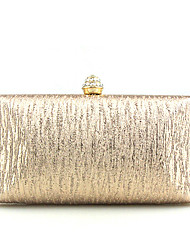 cheap -Women Bags PU Polyester Clutch Metal Chain for Event/Party Spring/Fall All Seasons Champagne Gold Black Silver Brown