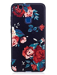 cheap -For Huawei P10 Lite P9 Lite Case Cover Flower Pattern Relief Back Cover Soft TPU P8 Lite 2017