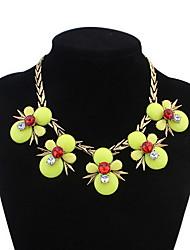 Women's Choker Necklaces Pendant Necklaces Imitation Diamond Jewelry Acrylic Resin AlloyBasic Unique Design Dangling Style Acrylic