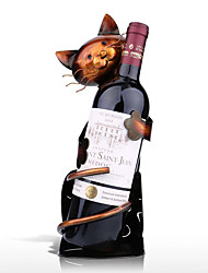 cheap -Cat Shaped Wine Holder Wine shelf Metal Figurine Practical Figurine Rack For Wine Bottle Office Home Decor wine rack
