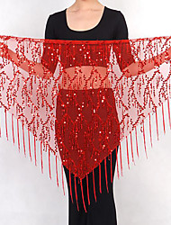 Belly Dance Hip Scarves Women's Performance Linen Sequin 1 Piece Hip Scarf