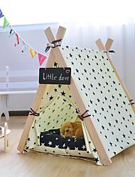 Cat Dog Bed Pet Mats & Pads Solid Stripe Stars Animal Foldable Tent Random Color