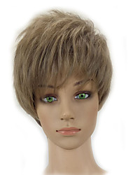 Short Curly Layered Light Ash Blonde Wig Synthetic Hair White Woman Wig High Temperature Fiber
