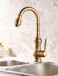 abordables -Antique Grand / Haut Arc Set de centre Soupape céramique Cuivre antique, Robinet de Cuisine