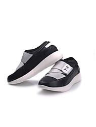 preiswerte -Damen Loafers & Slip-Ons Komfort Stoff Frühling Herbst Lässig Walking Klett Plateau Schwarz Silber 2,5 - 4,5 cm