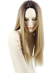 cheap -Synthetic Wig Straight African American Wig Ombre Hair Blonde Women's Capless Natural Wigs Long Synthetic Hair