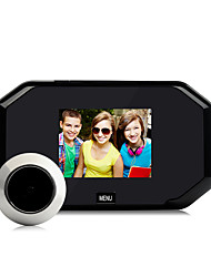 Danmini  3.0 Inch High-Definition Screen Electronic Hidden Cat'S Eye Metal Aterial Snap Shot Photos Storable