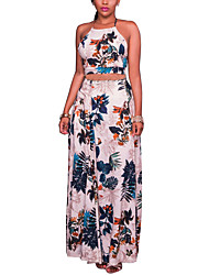 Women's Spring Summer Tank Top Skirt Suits Halter Sleeveless Polyster strenchy