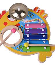 Недорогие -Конструкторы Барабанная установка Игрушечные инструменты Игрушки Экологичные Рыбки Дерево Куски Детские Подарок