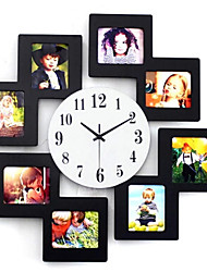 cheap -11*9cm 8 Picture Multi Photo Frame Display Wall Clock Time Family Album Colorful Color Modern