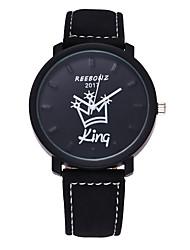 Homens Relógio de Moda Relógio de Pulso Relógio Casual Quartzo Couro Banda Casual Preta Marrom
