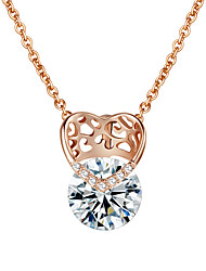 cheap -Women's Heart Love Heart Pendant Necklace Gold Plated Pendant Necklace , Wedding Party Engagement