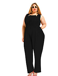 Women's Casual/Daily Jumpsuits,Simple Loose Solid Color Spring Summer