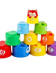 abordables -Blocs de Construction Jeux d'Empilage Jouets Equilibre Plastique Enfant Pièces