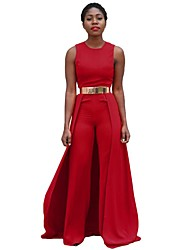 cheap -Women's Jumpsuit - Solid Color / Fashion, Pure Color High Rise