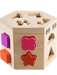baratos -ENLIGHTEN Blocos de Construir / Jogos de Madeira Clássico Fun & Whimsical Para Meninos Dom