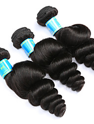 cheap -Peruvian Hair Loose Wave Human Hair Weaves 3 Pieces Natural Color Hair Weaves