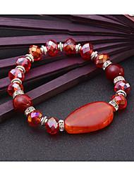 Femme Bracelets de rive Naturel Amitié Mode Bijoux Movie Bijoux de Luxe Cristal Agate Alliage Forme Géométrique Bijoux PourMariage Soirée