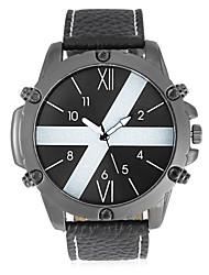 JUBAOLI Pánské Módní hodinky Unikátní Creative hodinky čínština Křemenný Kalendář Velký ciferník Nerez Kapela Cool Černá