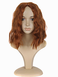 abordables -Mujer Pelucas sintéticas Medio Rizado Naranja Peluca de cosplay Pelucas para Disfraz