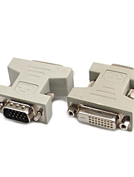 DVI Adapter, DVI to VGA Adapter Male - Female 720p Vernickelter Stahl 800 Mbps