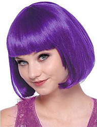 New Arrival Hot Fashion Short Natural Straight Dark Purple Cosplay Bobo Wig