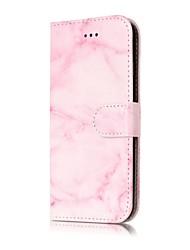 Недорогие -Назначение iPhone X iPhone 8 Чехлы панели Кошелек Бумажник для карт Флип Магнитный Чехол Кейс для Мрамор Твердый Искусственная кожа для