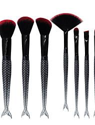 cheap -7pcs Double Fish Tail Makeup Brush Set Blush Brush Eyeshadow Eyeliner Brush Eyelash Brush dyeing Brush Powder Brush Sponge Applicator Synthetic Hair