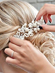 cheap -Imitation Pearl Acrylic Tiaras Headbands Hair Tool Head Chain Headpiece