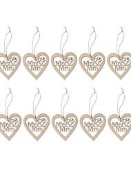 Legno Decorazioni di nozze-10Piece / Set Matrimonio Feste Da sera Fidanzamento Cerimonia Compleanno San Valentino