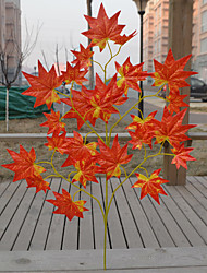 1 Branch Others Plants Tabletop Flower Artificial Flowers 5 Branches 25 Red Maple Leaves
