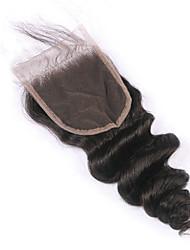 La chiusura libera libera di un pezzo di 1 parte libera i capelli brasiliani vergini dell'onda 130% la chiusura del merletto del densità