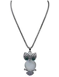 Femme Pendentif de collier Colliers chaînes Strass Imitation Opal Forme Géométrique Chouette Opale AlliageBasique Original Pendant Animal