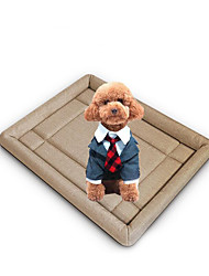 Dog Bed Pet Mats & Pads Solid Warm Soft Beige Coffee Red