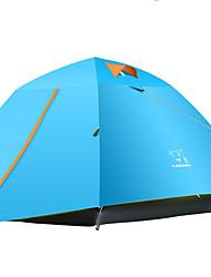 Недорогие -LINGNIU® 4 человека Туристические палатки Двухслойные зонты Автоматический Сферическая Палатка На открытом воздухе Водонепроницаемость, Дожденепроницаемый, Сохраняет тепло для 2000-3000 mm Кожа PU