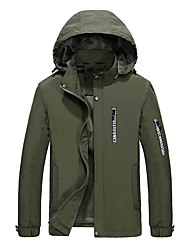 Men's Daily Simple Casual Winter Fall Jacket,Solid Hooded Long Sleeve Regular Cotton