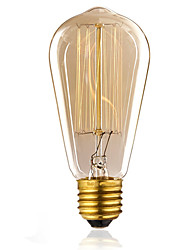 cheap -1pc 60 W E26 / E27 ST58 Incandescent Vintage Edison Light Bulb 220-240 V