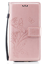 For iPhone 8 iPhone 8 Plus Case Cover Wallet Card Holder with Stand Flip Pattern Magnetic Embossed Full Body Case Butterfly Flower Hard