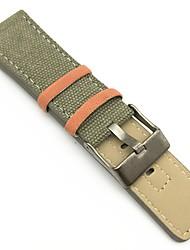 Недорогие -Ткань Ремешок для часов Ремень Зеленый 26cm / 10.24 дюймы 2cm / 0.8 дюймы