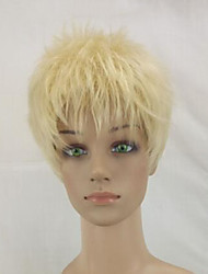 cheap -Synthetic Wig Curly Pixie Cut Synthetic Hair Blonde Wig Women's Short Capless
